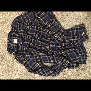Women's American Eagle XXL boyfriend flannel shirt